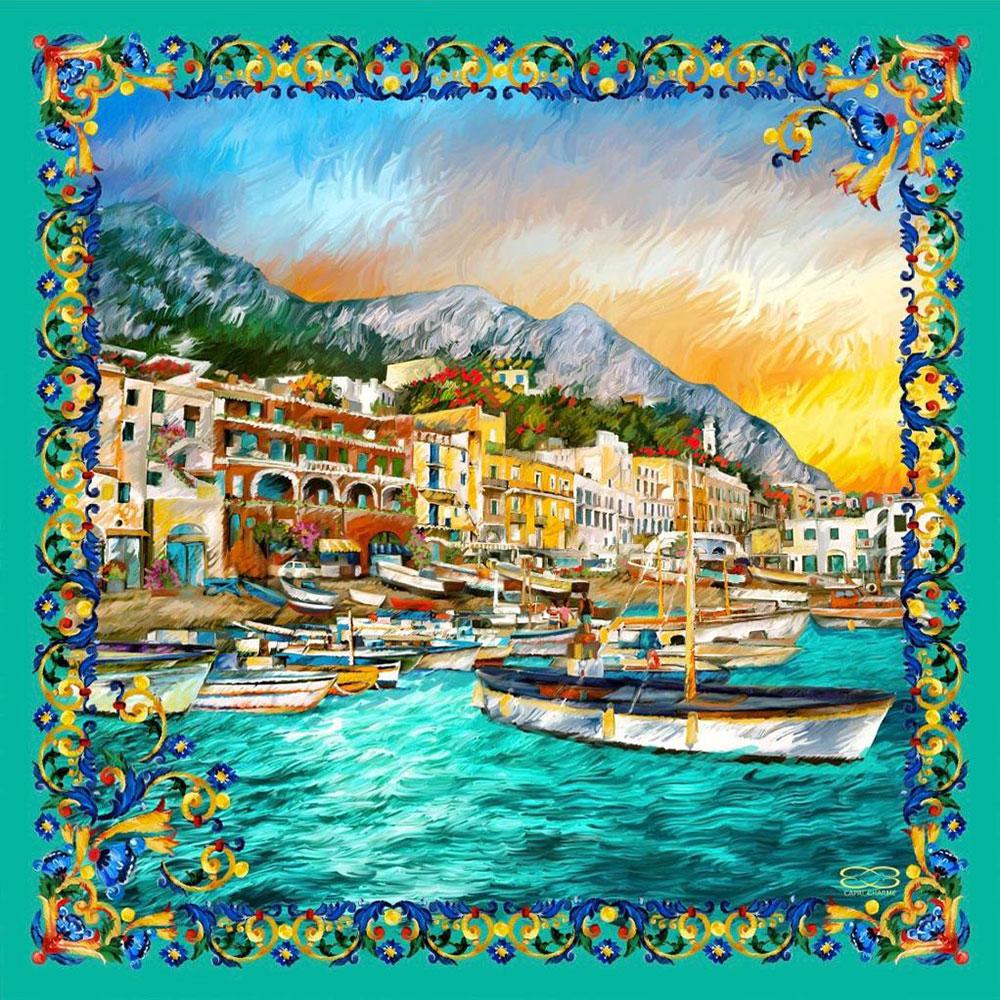 Foulard in Seta Marina Grande  50 x 50 cm