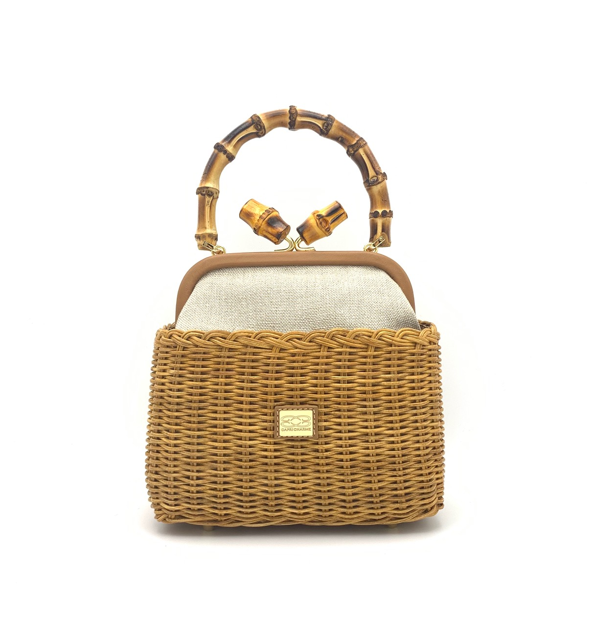 Phuket basket in natural wicker/honey